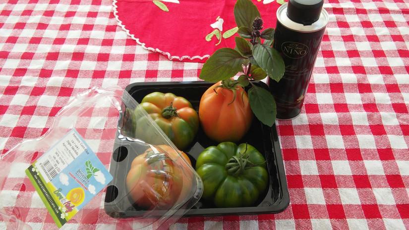 Due Cuore di Bue + due Marinda: insalata di pomodoro strepitosa!